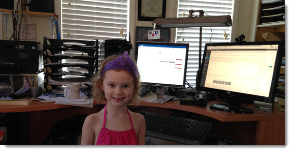 Maddy in my office